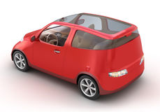 Compact Red Car 3D concept Royalty Free Stock Photography