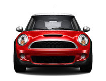 Compact red car - front view stock illustration