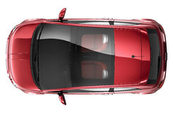 Compact red car - top view Stock Image