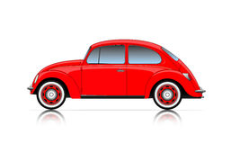 Compact red car Royalty Free Stock Photography