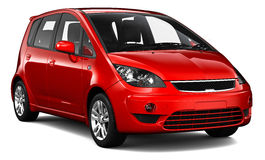 Compact red car Royalty Free Stock Image