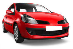 Compact red car Royalty Free Stock Photo