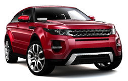 Compact red SUV Royalty Free Stock Photo