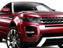 Compact Red SUV Royalty Free Stock Images