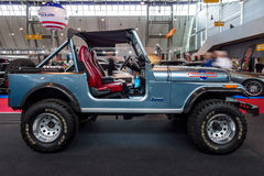 Compact sport utility vehicle Jeep CJ7, 1980. Stock Photo