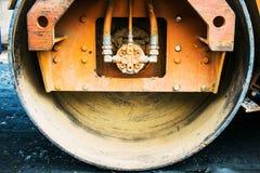 Compact steamroller flatten Stock Image