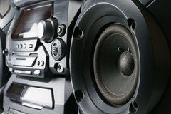 Compact stereo system. Cd and cassette player with radio Royalty Free Stock Photography