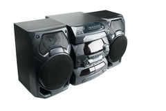 Compact stereo system Stock Photography