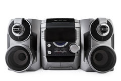 Compact Stereo System Cd And Cassette Player Isolated With Clipping Path Royalty Free Stock Image
