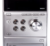 Compact stereo system cd and cassette player. Compact stereo system stock photo