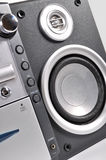 Compact stereo system and speakers Royalty Free Stock Photos