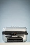 Compact Suitcase Locked with a Padlock Stock Photos