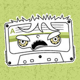 Compact tape cassettes. Vector illustration compact tape cassettes. Cartoon character. Pop muisic 80s. Web graphics, banners, advertisements, stickers, labels Stock Photo