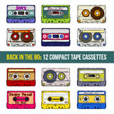 Compact tape cassettes Royalty Free Stock Photos