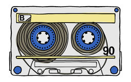 Compact tape cassettes Royalty Free Stock Photo