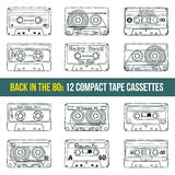 Compact tape cassettes Stock Photography