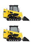 Compact track loader. Royalty Free Stock Images