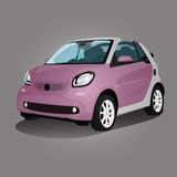 Compact vehicle vector illustration pink Royalty Free Stock Photos