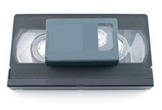 Compact videocassette and VHS Stock Image
