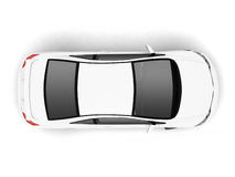 Compact white car top view Royalty Free Stock Images