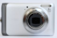 Compacte camerazoomlenzen Royalty-vrije Stock Foto's