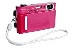Compacte digitale camera met riem Stock Afbeelding