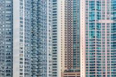 Compacte flats in Hongkong Royalty-vrije Stock Foto's