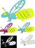 Compacte fluorescente glimworm Stock Afbeelding