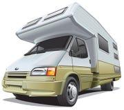 Compacte kampeerauto stock illustratie
