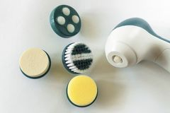 Compacte massager met vervangbare pijpen royalty-vrije stock afbeeldingen