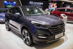 Compacte suvauto van Hyundai Tucson stock foto