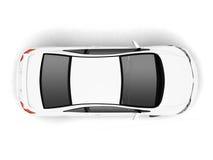 Compacte witte auto hoogste mening Royalty-vrije Stock Afbeeldingen