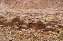 Compacted clay soil. At construction side Stock Photography