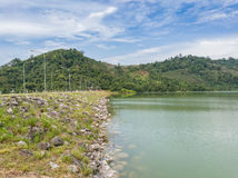 Compacted concrete dam in Thailand.  Stock Images