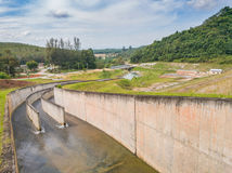 Compacted concrete dam in Thailand.  Stock Photography