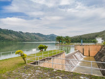 Compacted concrete dam in Thailand.  Stock Photos