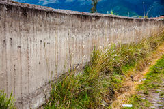 Compacted earth wall,. `tapial`, handmade construction in the rural areas Royalty Free Stock Images
