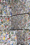 Compacted Garbage At Recycling Plant. Full frame image of compacted garbage at recycling plant Stock Photo