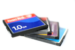 CompactFlash Karten 3 Lizenzfreie Stockbilder