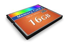 CompactFlash memory card Stock Photos