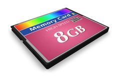 CompactFlash memory card Royalty Free Stock Images