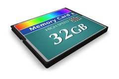 CompactFlash memory card Stock Images
