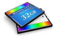 CompactFlash memory cards Stock Photo