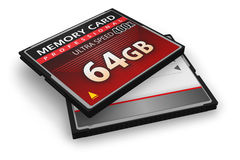 CompactFlash Memory Cards Royalty Free Stock Photo