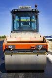Compactor at asphalt stock images