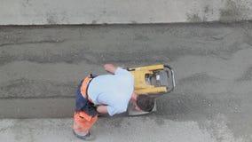 Compactor för jord för banhoppningstålar stock video