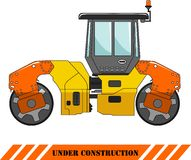 Compactor. Heavy construction machine. Vector Royalty Free Stock Images