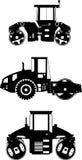 Compactors. Heavy construction machines. Vector Stock Photos
