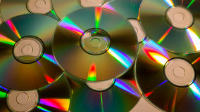 Compacts disc (CD) dispersados Fotografia de Stock Royalty Free