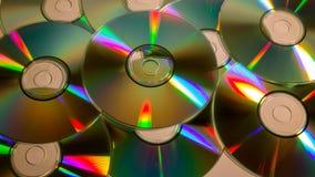 Compacts disc (CD) dispersados Fotografia de Stock Royalty Free